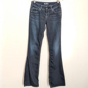 Silver Jeans Suki Boot Cut Dark Wash Jeans  27/34